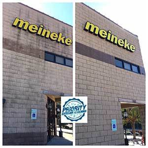 Image: Before & After Commercial Property Power Washing Services by Priority Exterior Cleaning