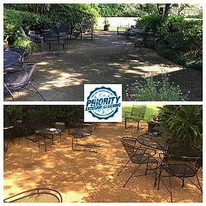 Image: Before & After Jackson MS Patio Pressure Washing Service by Priority Exterior Cleaning, LLC.
