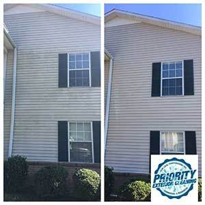 Image: Before & After Multi-Family Unit Power Washing Services by Priority Exterior Cleaning, LLC.