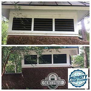 Image: Before & After Northbay Madison Homeowners Association Entrance Pressure Washing