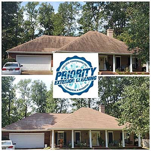Brandon, MS Roof Cleaning Services by Priority Exterior Cleaning LLC. Roof cleaning is a delicate art that should not be left to chance. Call the Brandon, MS Roof Cleaning Experts to make sure your roof is a priority. Our roof soft wash  techniques and cleansers will not damage your roof. They will remove the mold, mildew, lichen, and all other contaminants which can shorten the life of your roof.