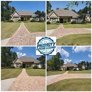 Priority Exterior Cleaning LLC is your best choice for Jackson, MS concrete driveway and brick cleaning. Pressure washing your concrete driveway or brick pavers is more than just turning up the pressure on a pwer washing machine and spraying. In fact, doing so can actually damage your concrete or brick pavers. Call Priority Exterior Cleaning LLC to have your concrete and brick pavers cleaned coorrectly with our amazing soft wash services.