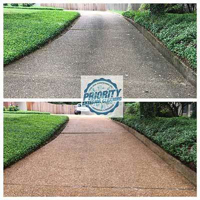 Madison MS Concrete Driveway Cleaning by Priority Exterior Cleaning, LLC. Residential Pressure Washing Division