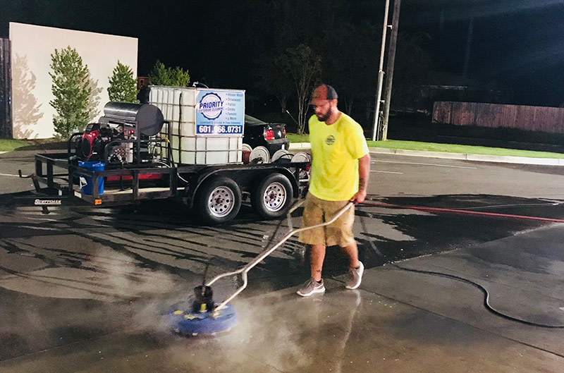 Priority Exterior Cleaning, LLC. Parking Lot Cleaning